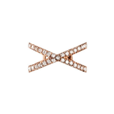 Eva Fehren pavé diamond and gold X ear cuff as seen on Rihanna