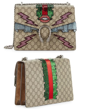 Gucci Dionysus embroidered supreme GG trompe l'oeuil handbag as seen on Rihanna
