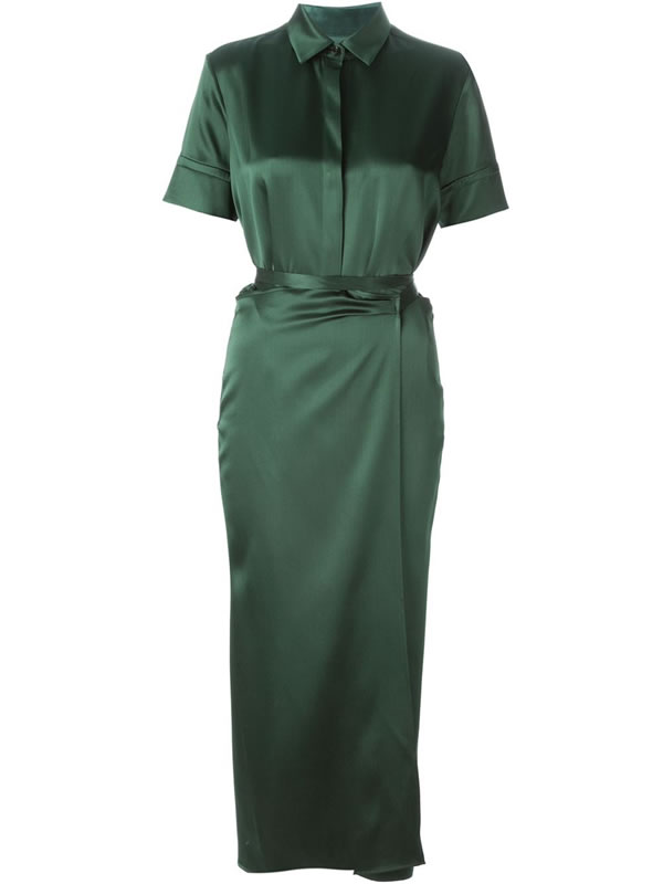 Rosetta Getty green shirt dress as seen on Rihanna