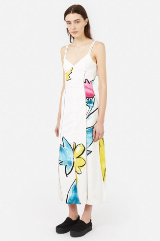 Adam Selman floral print Source slip dress as seen on Rihanna