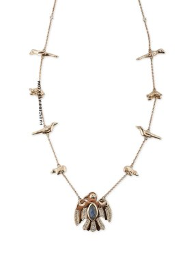 Jacquie Aiche Thunderbird Fetish necklace with eagle pendant as seen on Rihanna