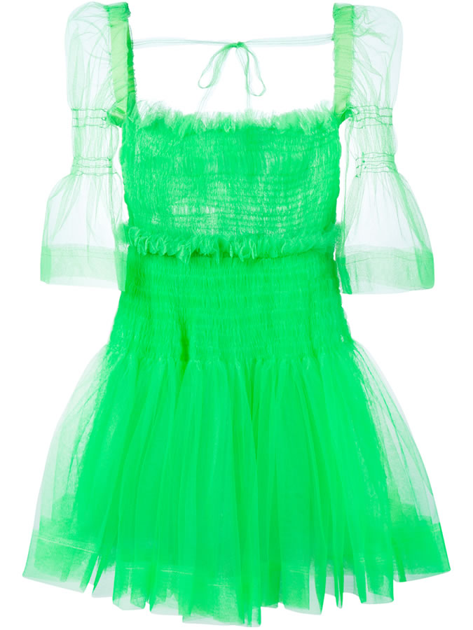 Molly Goddard green Sophie tulle dress