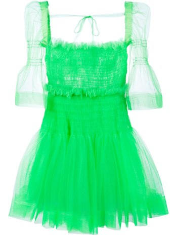 Molly Goddard green Sophie tulle dress as seen on Rihanna