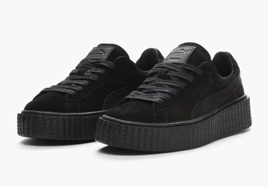 Puma by Rihanna Creeper in Black Satin