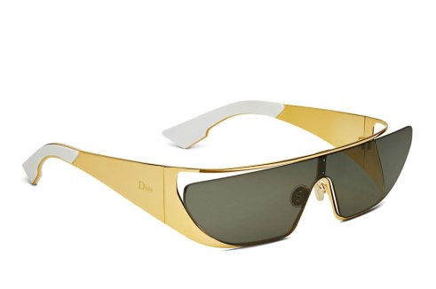 Rihanna x Dior shield sunglasses in 24k gold