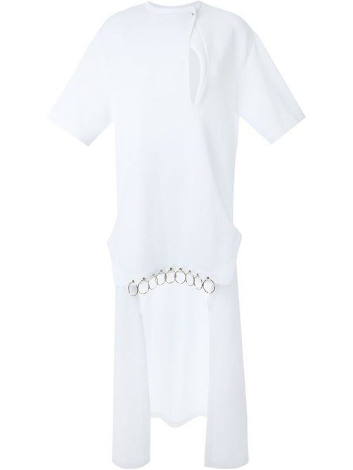 Esteban Cortazar white Poet shirt/dress as seen on Rihanna