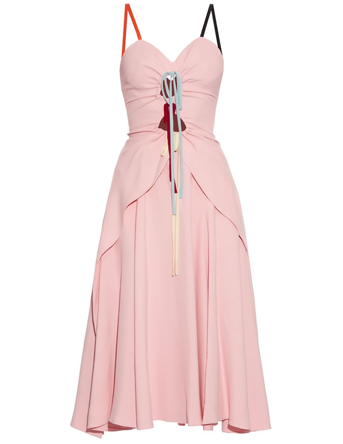 Rosie Assoulin holy moly cut-out cady pink dress as seen on Rihanna