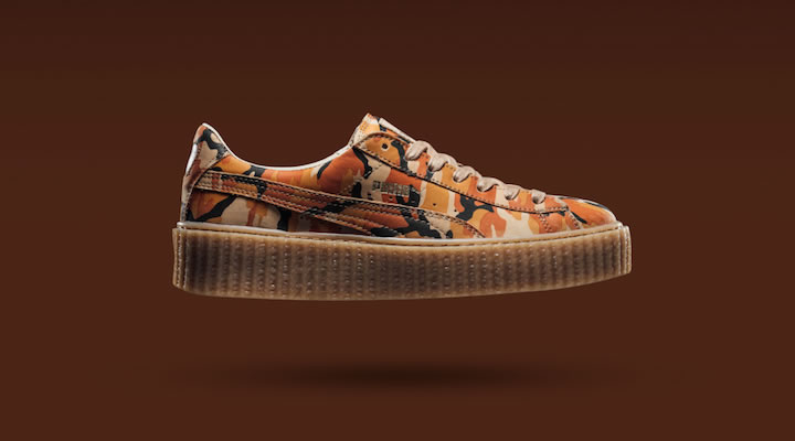 Fenty Puma by Rihanna Autumn Camo orange creepers