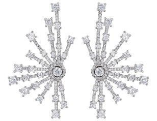 Fallon Monarch firework fan earrings as seen on Rihanna