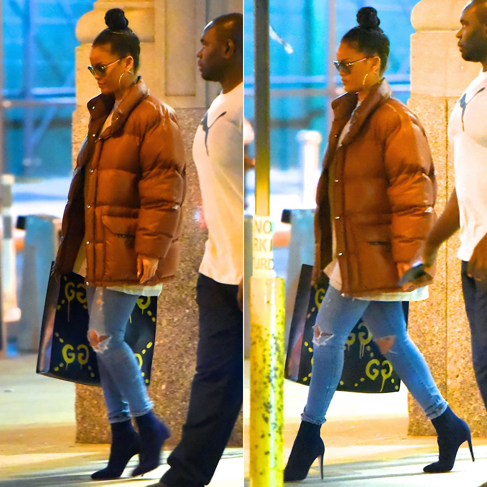 Rihanna Spotted In Vintage The North Face Jacket Haus Of