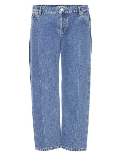 Balenciaga Rockabilly cropped jeans as seen on Rihanna