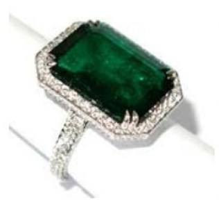 Chopard emerald and diamond ring as seen on rihanna