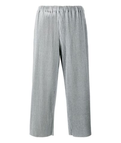 Faustine Steinmetz grey pleated cropped tracksuit bottoms as seen on Rihanna