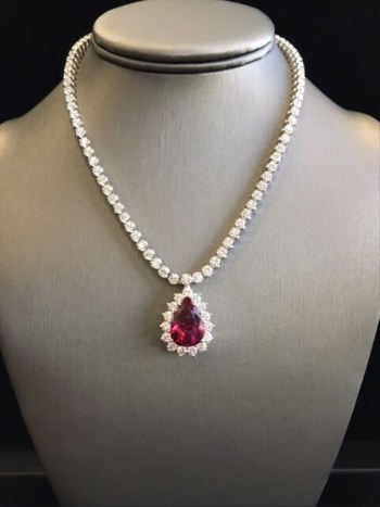 Pasquale Bruni ruby and diamond necklace as seen on Rihanna