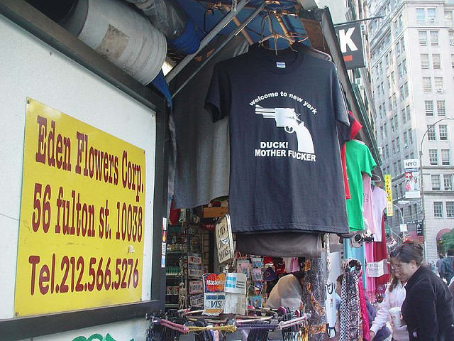 Welcome to New York duck motherfucker t-shirt as seen on Rihanna