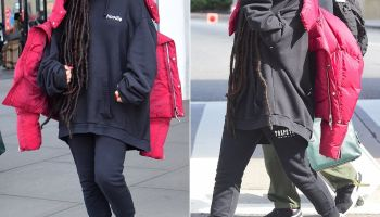 Rihanna Spotted In Vintage The North Face Jacket - Haus of Rihanna 938248946