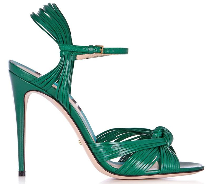 Gucci Allie knotted front leather sandals as seen on Rihanna