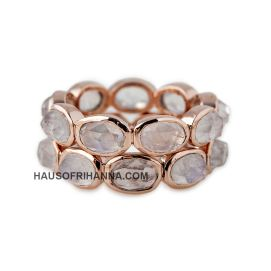 Jacquie Aiche rose gold moonstone eternity bands as seen on Rihanna