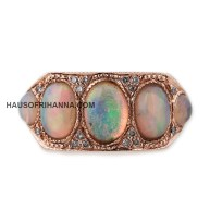 Jacquie Aiche rose gol white opal brick ring as seen on Rihanna