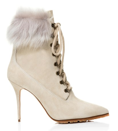 Rihanna x Manolo Blahnik Fallon boot in ivory
