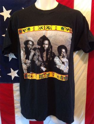 Steel Pulse vintage 1990s concert t-shirt as seen on Rihanna
