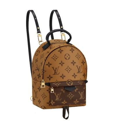 Louis Vuitton Palm Springs Mini backpack in Monogram Reverse as seen on Rihanna