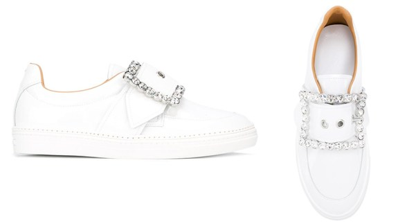 Maison Margiela embellished buckle sneakers as seen on Rihanna