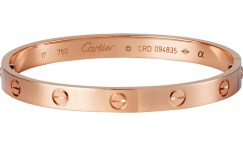 Cartier yellow gold Love bracelet as seen on Rihanna