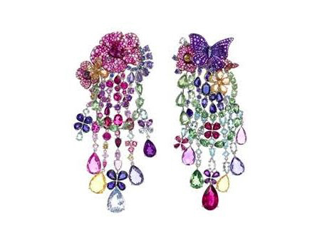 Chopard floral butterfly earrings as seen on Rihanna