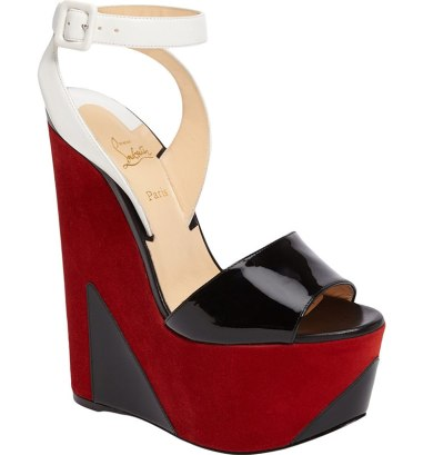 Christian Louboutin Tromploia platform wedge sandals as seen on Rihanna