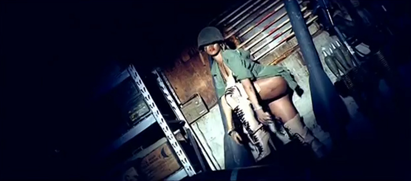 Rihanna KTZ Kokon to Zai flesh JTR lace-up boots Hard music video