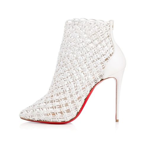 Christian Louboutin Andaloulou woven ankle boots as seen on Rihanna