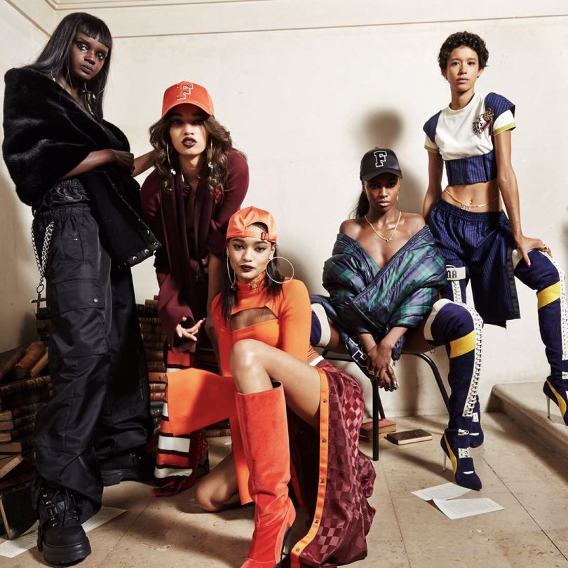 Fenty x Puma Fall 2017 collection models group photo