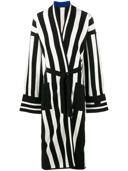 Haider Ackermann striped long cardigan as seen on Rihanna