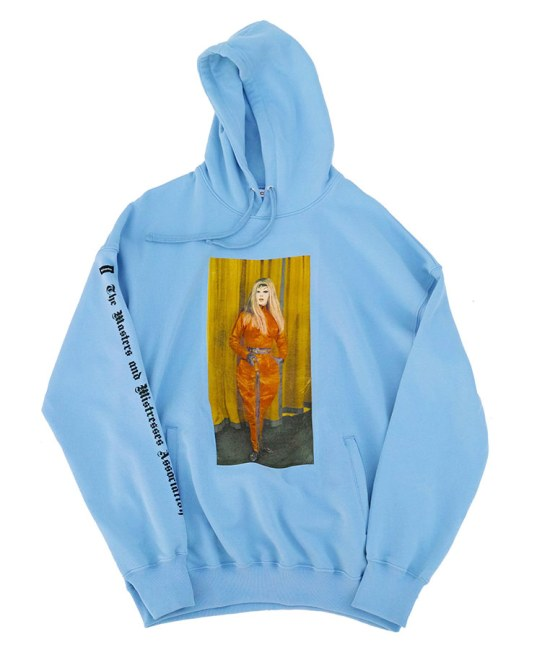 Richardson The Masters and Mistresses Association blue hoodie as seen on Rihanna