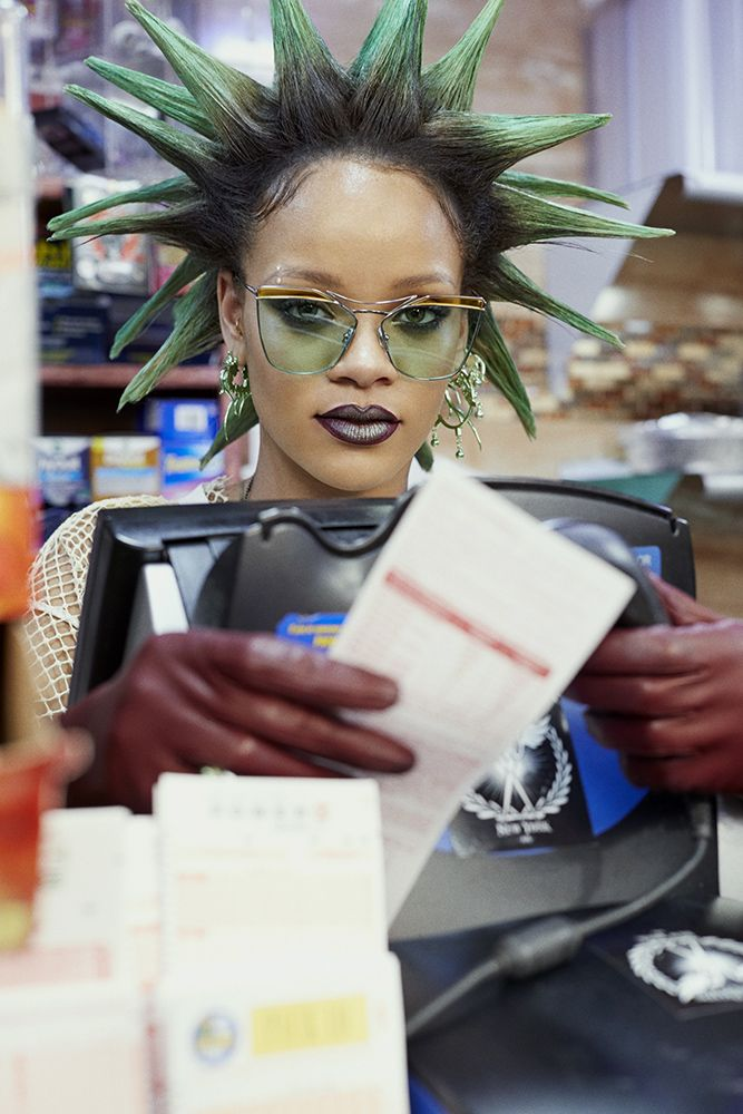 Rihanna Gentle Monster Off Pink sunglasses Paper magazine March 2017
