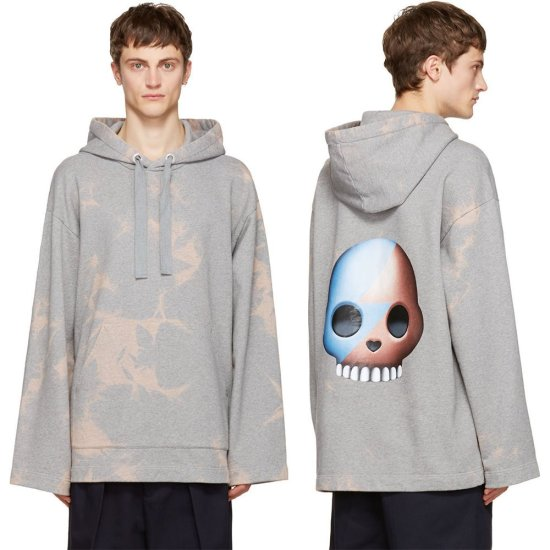 Acne Studios Florida skull tie-dye hoodie as seen on Rihanna