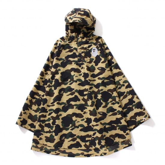 BAPE 1st Camo Poncho cape as seen on Rihanna