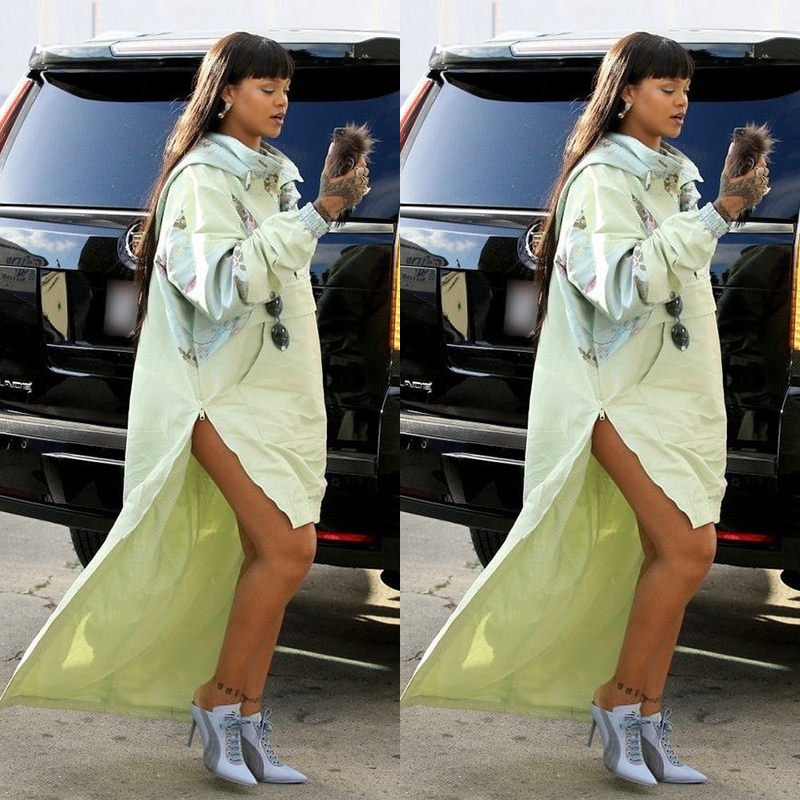 Rihanna Fenty Puma jacquard parka mule heels, Pasquale Bruni morganite and diamond jewelry, Le Vian rings
