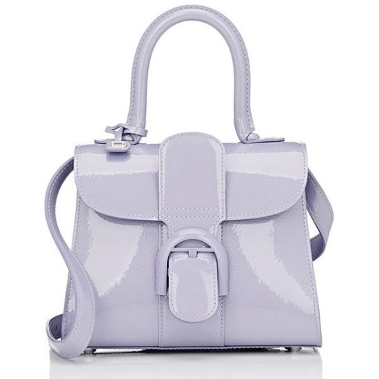 Delvaux mini Brillant handbag in lilac as seen on Rihanna
