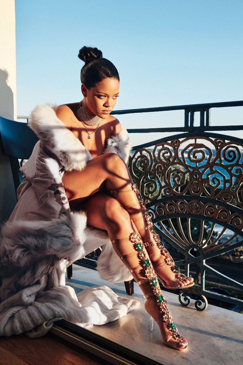 Rihanna Manolo Blahnik So Stoned collection campaign