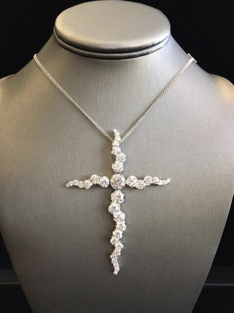Pasquale Bruni diamond cross necklace as seen on Rihanna