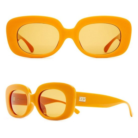 Crap Eyewear Velvet Mirror tangerine orange sunglasses as seen on Rihanna
