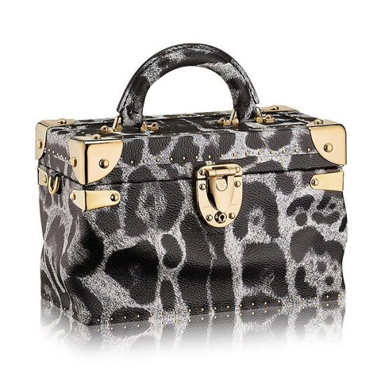 Louis Vuitton City Trunk leopard print bag as seen on Rihanna
