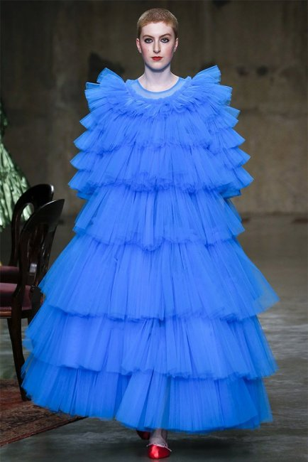 Molly Goddard Rio blue tulle dress as seen on Rihanna
