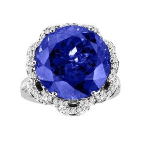 Narcisa Pheres blue sapphire and diamond ring as seen on Rihanna