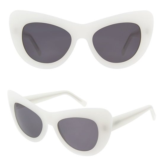 Andy Wolf Jan oversize white cat eye sunglasses as seen on Rihanna