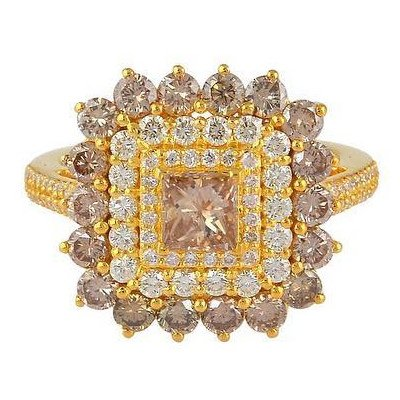 Narcisa Pheres pink and orange diamond ring as seen on Rihanna