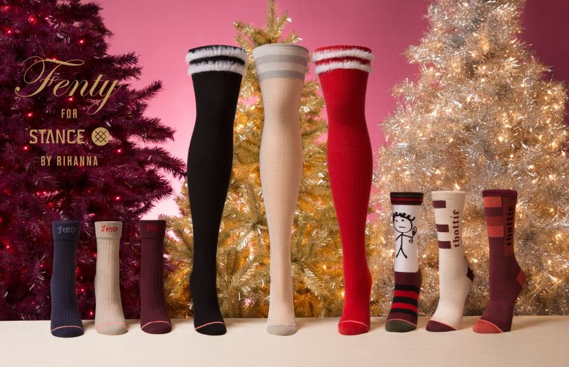Rihanna Stance holiday 2017 socks collection