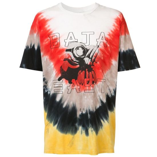 Baja East Minions tie-dye t-shirt as seen on Rihanna